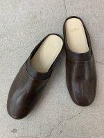 """AUTTAA / Room Shoes iii """"Nappa"""" / D.Brown"""