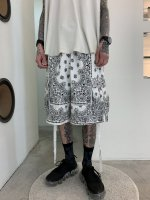 VICTIM×HAV-A-HANK / PAISLEY SHORTS / WHITE