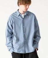 【予約商品】rehacer / Wide Slit Boil Stripe Shirt / 6月下旬発売予定 / 21年 4/28 〆切