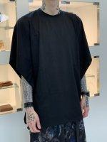 SUSPEREAL / dolman poncho cut sew / Black