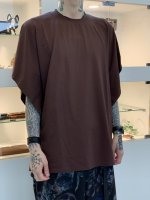 SUSPEREAL / dolman poncho cut sew / Brown