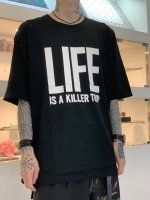 """WIZZARD / ARCHIVE GRAPHIC T-SHIRT """"LIFE"""" / BLACK"""