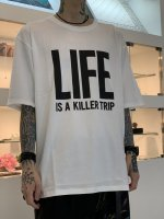"""WIZZARD / ARCHIVE GRAPHIC T-SHIRT """"LIFE"""" / WHITE"""