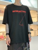 """WIZZARD / ARCHIVE GRAPHIC T-SHIRT """"INTERACTION"""" / BLACK×RED"""