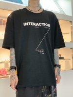 """WIZZARD / ARCHIVE GRAPHIC T-SHIRT """"INTERACTION"""" / BLACK×WHITE"""