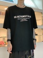 """WIZZARD / GRAPHIC T-SHIRTS """"RE-ACTION"""" / BLACK"""