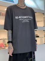 """WIZZARD / GRAPHIC T-SHIRTS """"RE-ACTION"""" / CHARCOAL"""