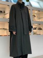 VOAAOV / Vintage Wool Wide Long Coat / Olive