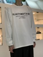 """WIZZARD / GRAPHIC L/S T-SHIRTS """"RE-ACTION"""" / WHITE"""