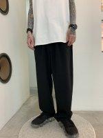 SUSPEREAL / SLIT STRAIGHT PANTS / Black
