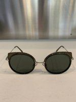 SUSPEREAL / SUNGLASS_02 ROUND / Black_Silver flame