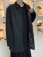 glamb / Reversible soutien collar coat / Black