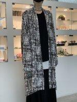 SUSPEREAL / geometric coat jacket / White
