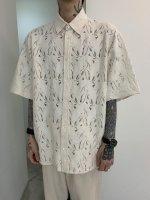 【予約商品】WIZZARD / FLOWER LACE H/S SLIT SHIRTS / 4月上旬発売予定 / 21年 9/30 〆切