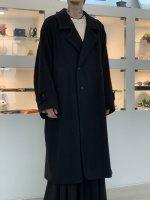 VOAAOV / Yabure Oil Cut Wool Long Coat / Black
