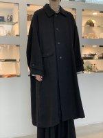 VOAAOV / Soft Wool Twill Long Coat / Black