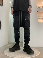 A.F ARTEFACT / Cargo Sarouel Sweat Trousers / Black