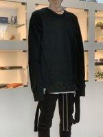 A.F ARTEFACT / Crew Neck Knit Pullover / Black