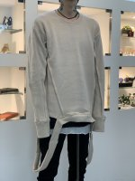 A.F ARTEFACT / Crew Neck Knit Pullover / Ivory