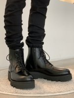 LAD MUSICIAN / LACE UP BOOTS / BLACK