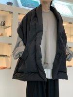 VOAAOV / Nylon High Density Cloth BIG down stole / Black