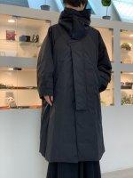 VOAAOV / Nylon High Density Cloth Long Coat / Black