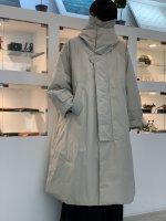 VOAAOV / Nylon High Density Cloth Long Coat / Light Gray