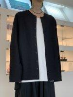 VOAAOV / Wool Ring Jersey Cardigan / Black
