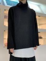 VOAAOV / Wool Ring Jersey Hight-neck tops / Black
