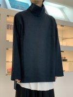 VOAAOV / Wool Ring Jersey Hight-neck tops / Navy