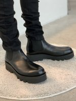 LAD MUSICIAN / SIDE GORE BOOTS / BLACK