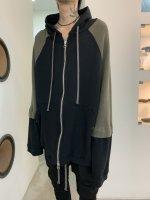 【予約商品】A.F ARTEFACT / Knit Combi Big Hoodie Zip / 2月発売予定 / 21年 10/31 〆切
