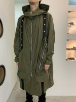 【予約商品】A.F ARTEFACT / Hoodie Long Coat / 2月発売予定 / 21年 10/31 〆切