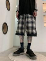 【予約商品】A.F ARTEFACT / Check Sarouel Shorts / 2月発売予定 / 21年 10/31 〆切