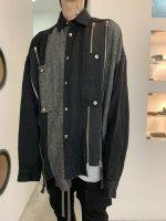 【予約商品】A.F ARTEFACT / Front Zip asymmetry Cocoon Shirts / 2月発売予定 / 21年 10/31 〆切