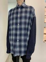 【予約商品】A.F ARTEFACT / Check×Denim Combi Cocoon Shirts / 2月発売予定 / 21年 10/31 〆切