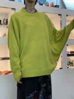 SUSPEREAL / dolman lime sweater / Lime Yellow