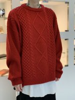 VICTIM / DAMEGE CABLE KNIT / RED