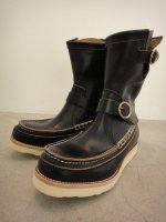 REVIVAL 90% PRODUCTS by Varde77 / U.S. OIL LEATHER HAND MOCCASIN BOOTS  / BLACK