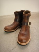 REVIVAL 90% PRODUCTS by Varde77 / U.S. OIL LEATHER SHORT ENGINEER BOOTS / BROWN