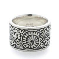 GARNI / Vine Pattern Ring / Black & White【取り寄せ商品】