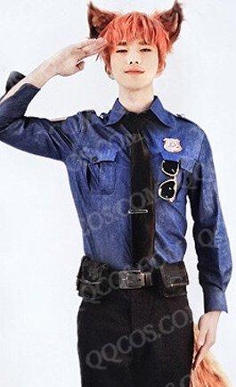 ディズニープリンセス 風  ズートピア風 Zootopia  ニック・ワイルド 警察制服  コスプレ衣装