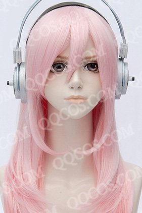 すーぱーそに子風 キャラクターウィッグ  ピンク