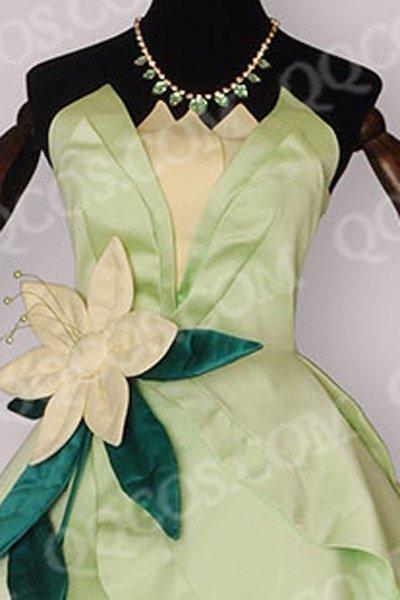 ディズニープリンセス 風 プリンセスと魔法のキス ティアナ(てぃあな) ドレス コスプレ衣装