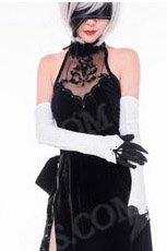 NieR:Automata ニーア オートマタ風    ヨルハ二号B型 2B 同人ドレス コスプレ衣装