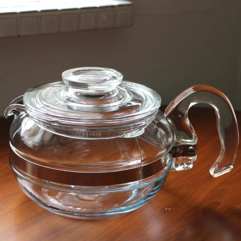 オールドパイレックス・ ティントブルー・後期 6カップ Teaポット