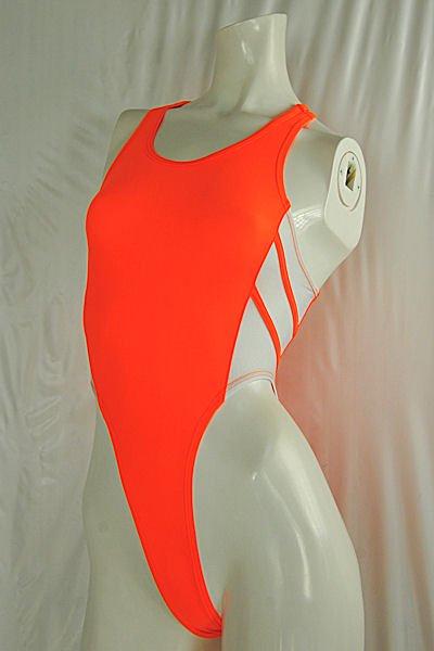 MHH24-2-11陸上競技用スーツMサイズフルバックレッドオレンジメインホワイト