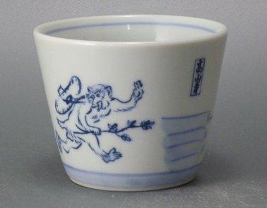 鳥獣戯画そば千代口(喧嘩の図)