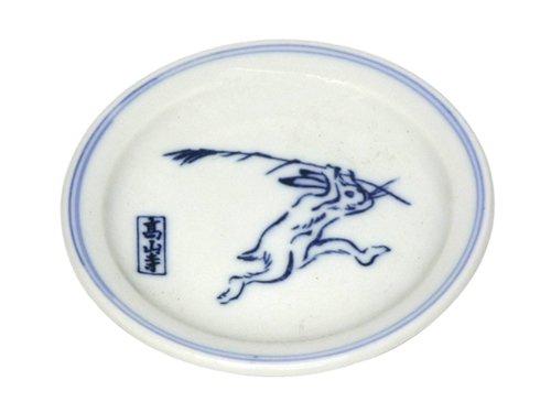 鳥獣戯画薬味皿C(喧嘩の図)