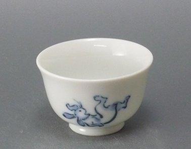 鳥獣戯画小煎茶(相撲の図)